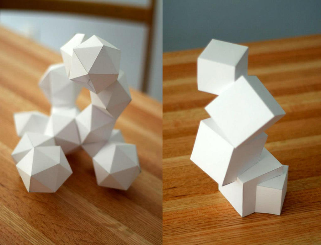 3d foundations paper projects by jurassictodd for 3d art projects