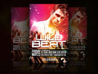 Wild Beat Party Flyer