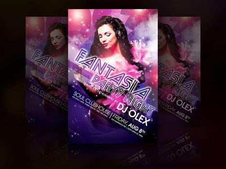 Fantasia Party Night Flyer