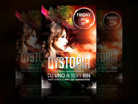Dystopia Party Flyer