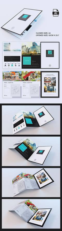 Elegant Large Trifold Property Brochure