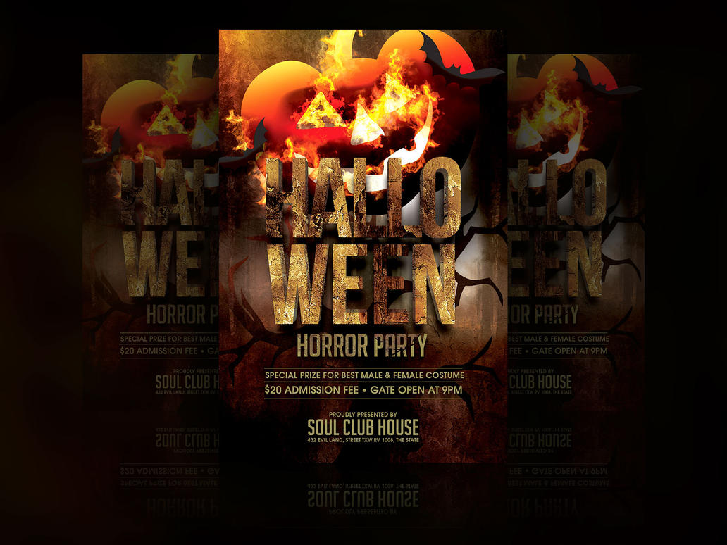 Halloween Party Flyer by soulmemoria