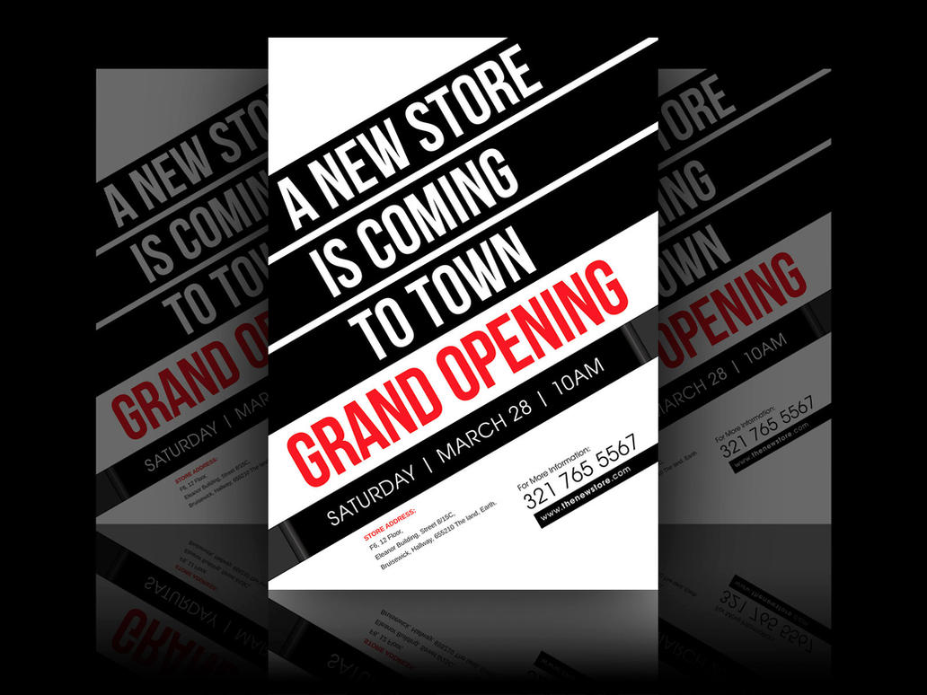New Store Grand Opening Flyer by soulmemoria on DeviantArt – Grand Opening Flyer Template
