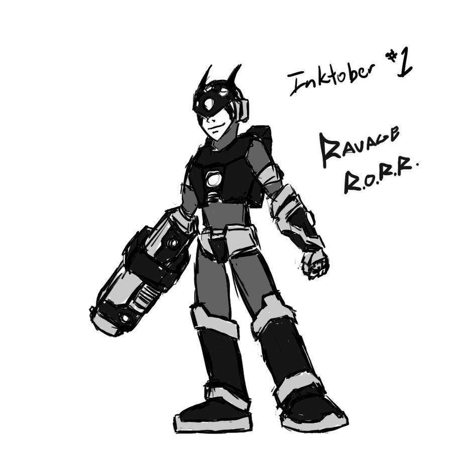 Inktober 01 Ravagerorr by DarkRavage
