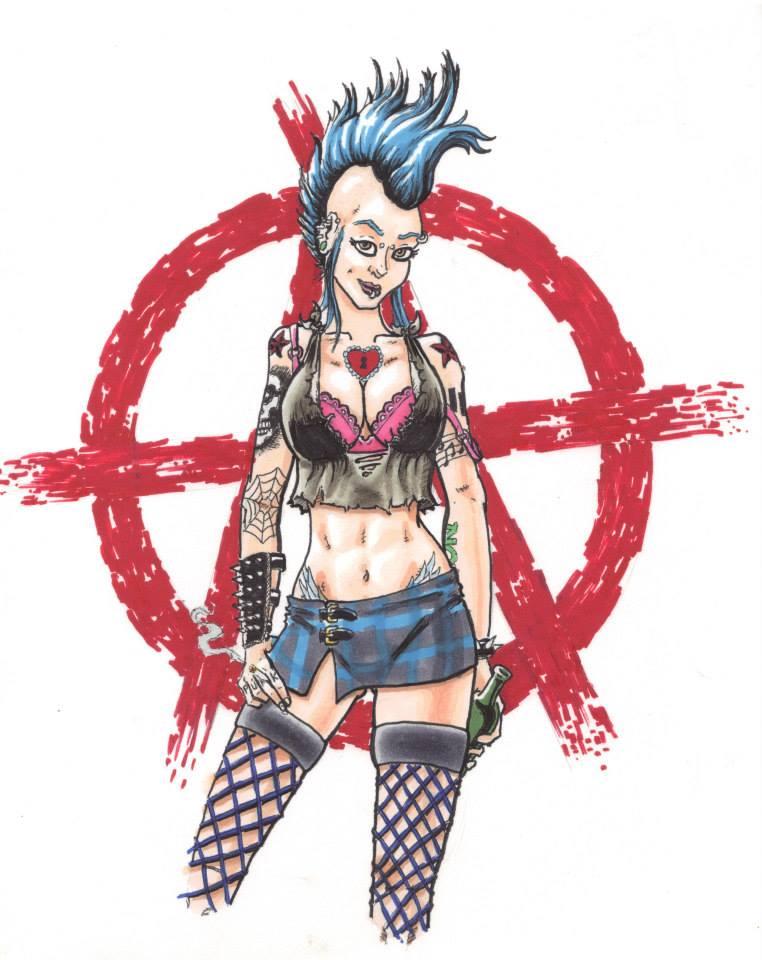 Punk Chica by Bluseph