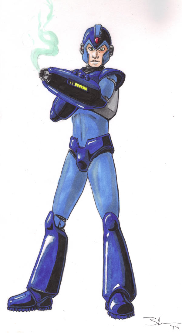 Mega Man by Bluseph
