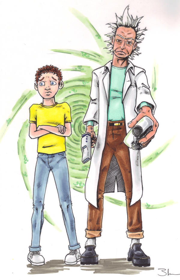 Rick and Morty by Bluseph