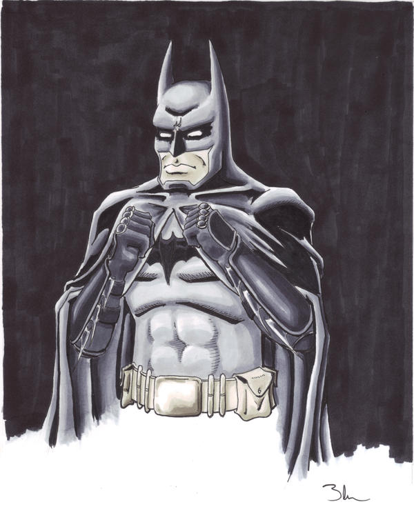Golden Gloves Batman by Bluseph
