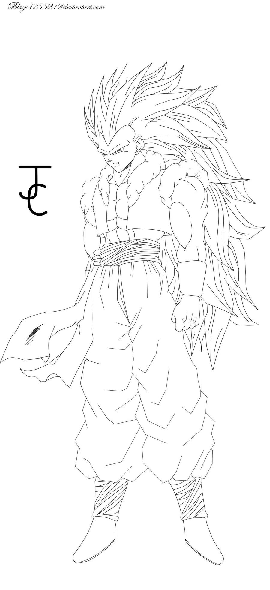 gallery images and information gotenks ssj3 coloring pages - Gogeta Coloring Pages