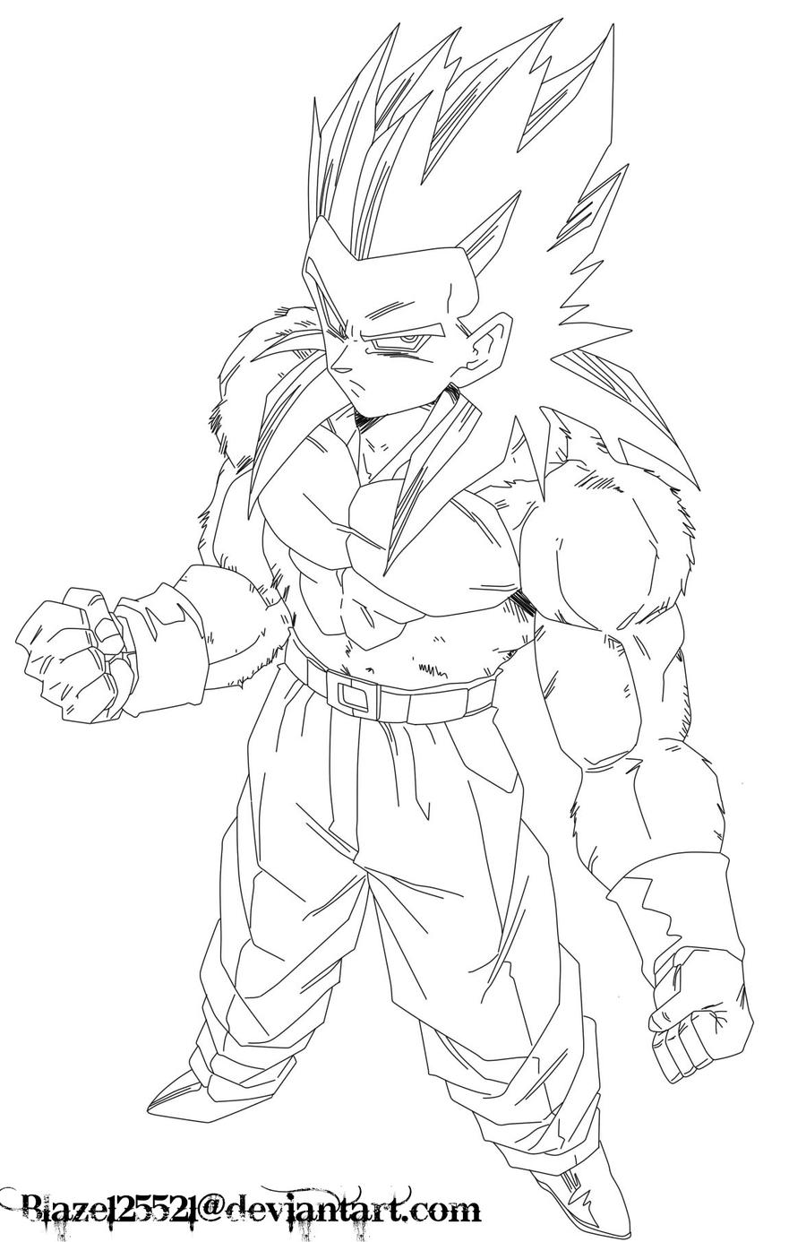 Emejing Super Saiyan Gohan Coloring Pages Pictures - Coloring 2018 ...