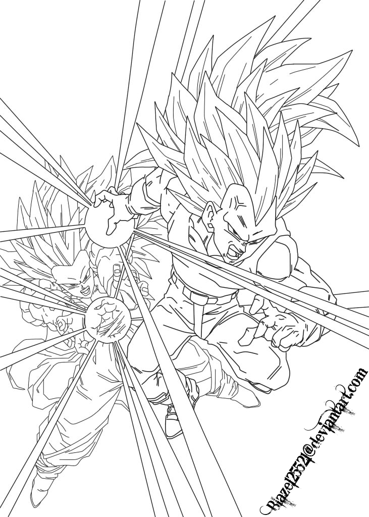 dragon ball z ssj goku coloring pages