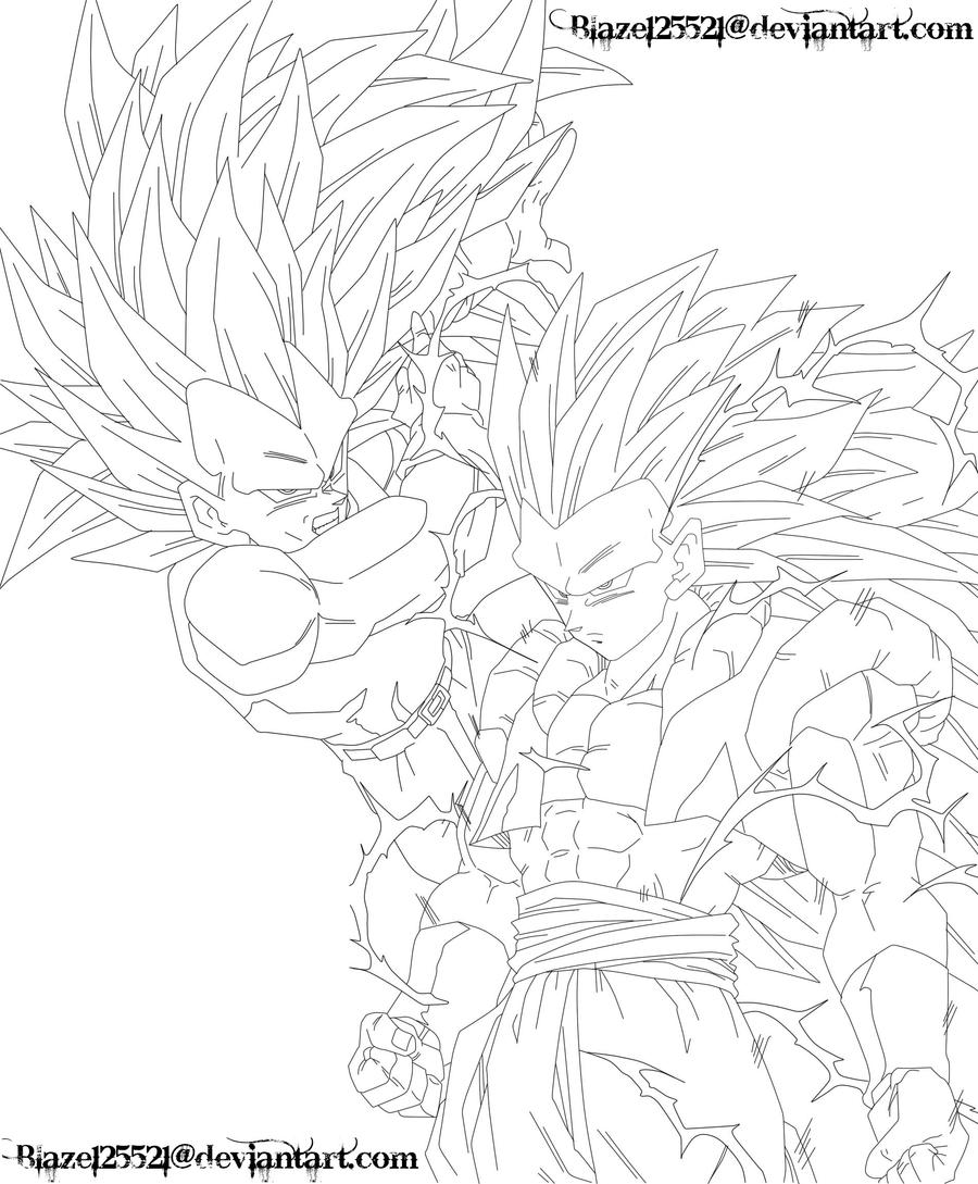 gotenks coloring pages - photo#36