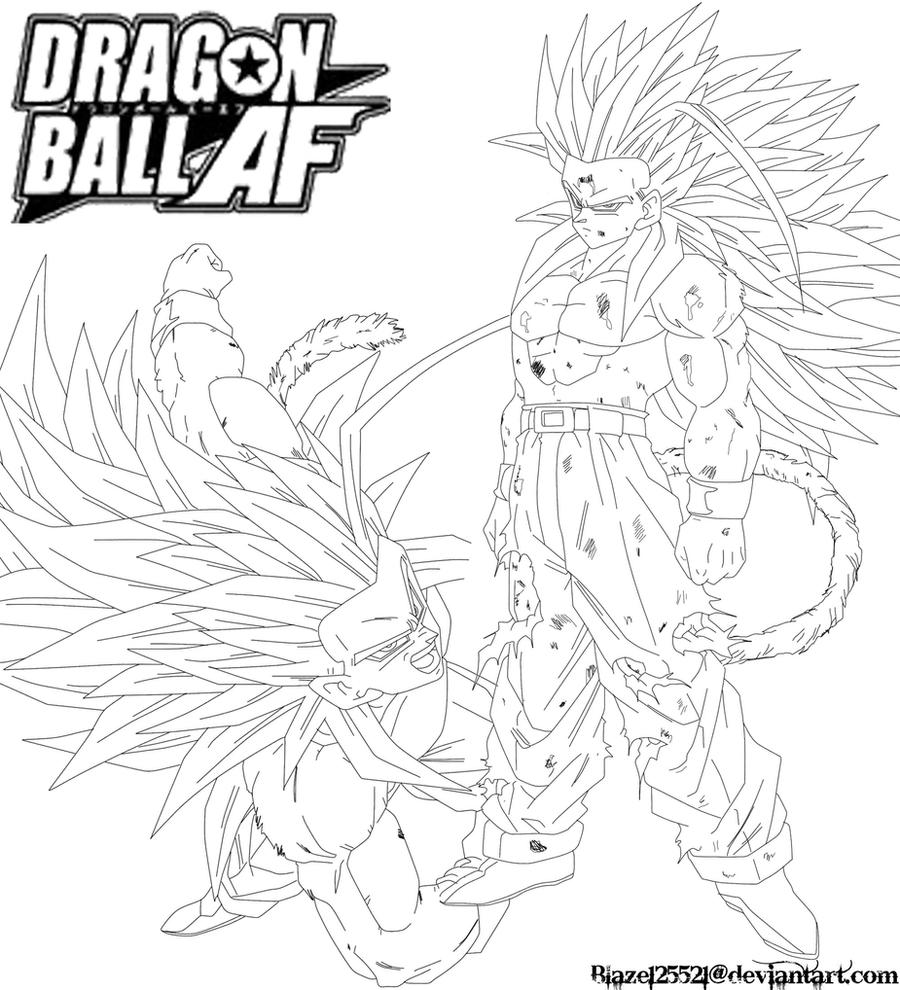 coloring pages dragonball z ssj5 - photo#31