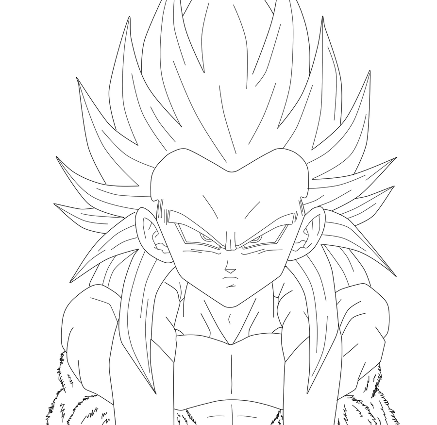 gotenks coloring pages - photo#27