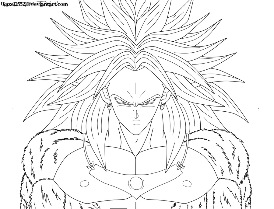 Broly Ssj3 DrawingSsjPrintable Coloring Pages Free Download