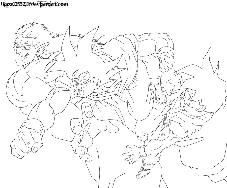 goku kamehameha coloring pages