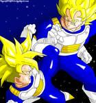 Goku and Gohan Training CLD