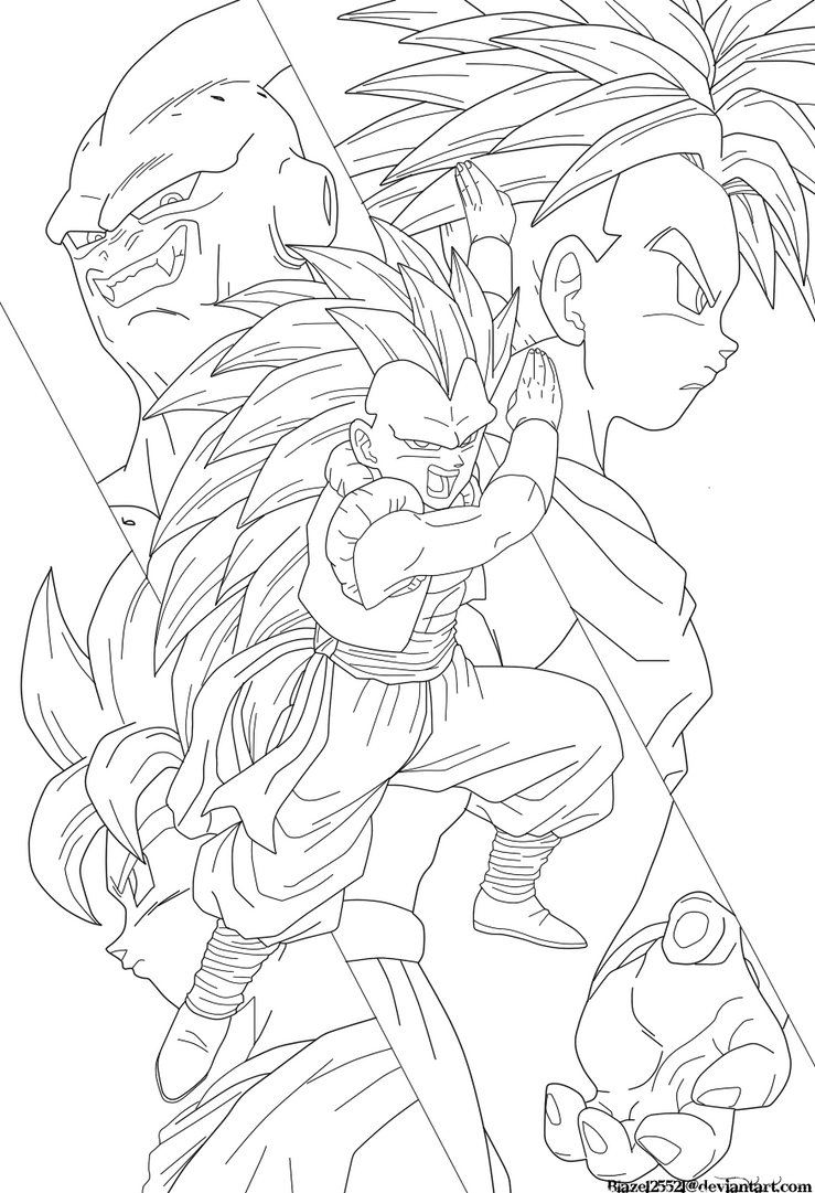 gotenks coloring pages - photo#34