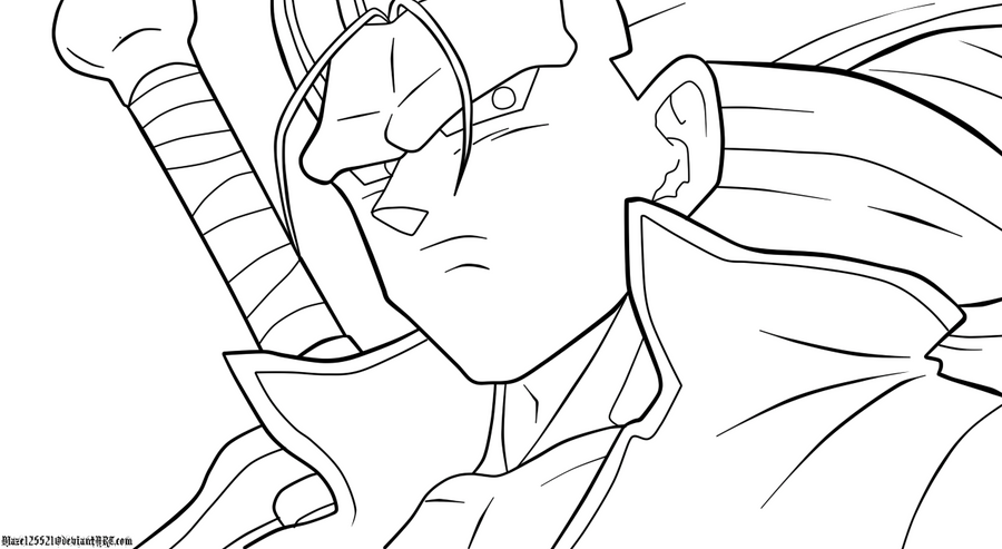 Dragon Ball Z Para Colorear Gotenks Ssj Imagui