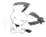 Tablet Practice: Sleeping Pichu Sketch