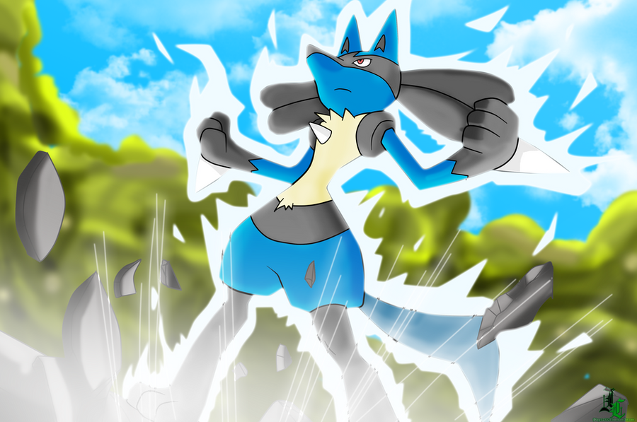 Lucario Aura Sphere Wallpaper Colored By Jamalc157Lucario