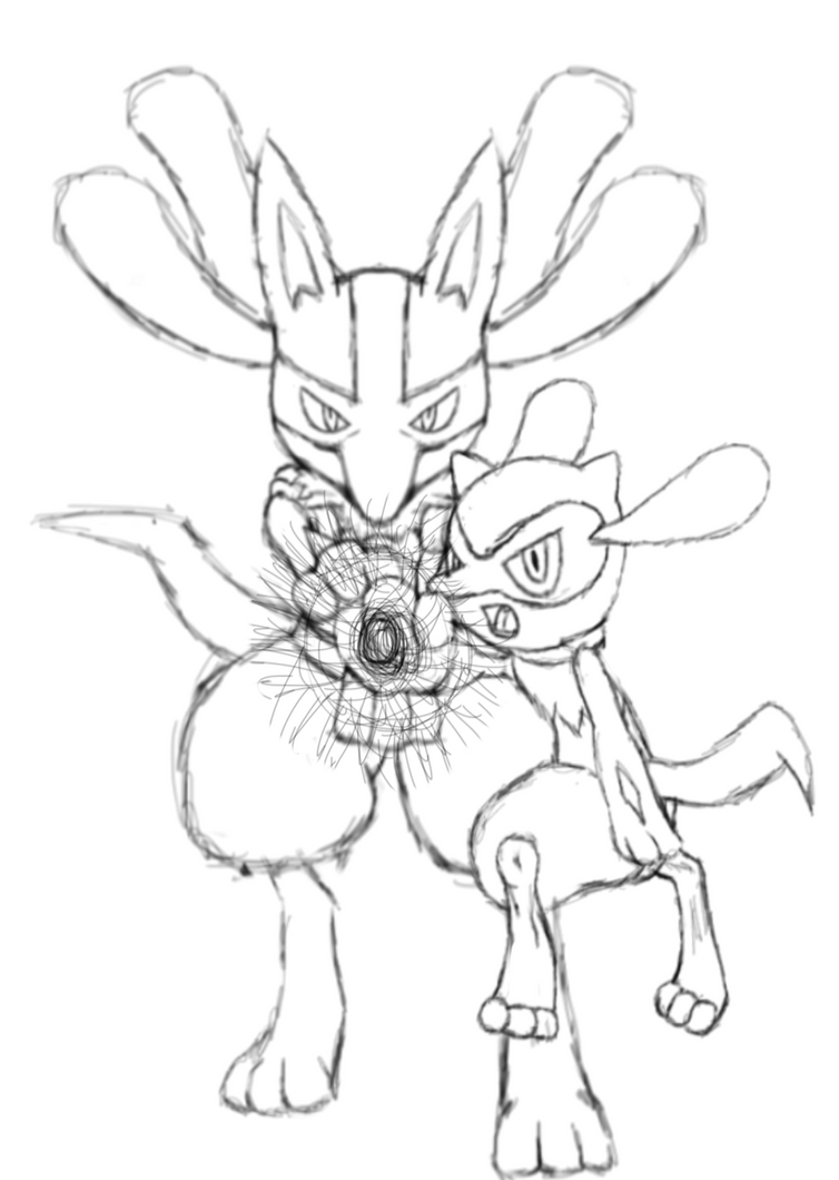 riolu pokemon coloring pages - photo#36