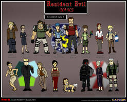 Resident Evil 5 Comic Characters by Jacob-R-Goulden