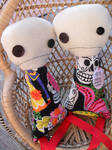 Mexican Sugar Skull Stick Figure Buddies