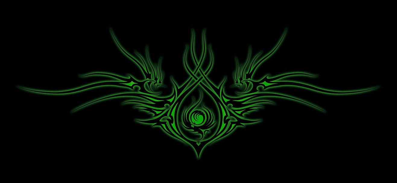 Green Fire Tribal by wizardx