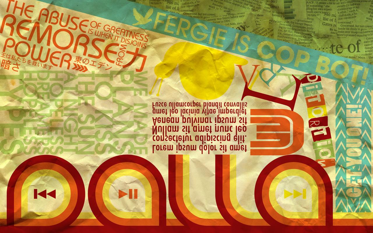 Vector Typography Wallpaper by dalla-kun