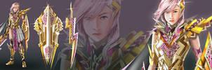 Lightning Returns FFXIII Contest Golden Lightning by elangkarosingo