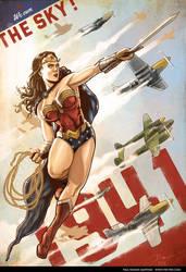 Wonder Woman 1941 - We own the sky! by PaulRomanMartinez