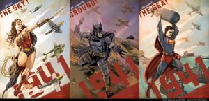 Wonder Woman, Batman, Superman 1941 Trinity