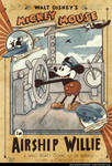 Vintage Mickey Mouse in Airship Willie Poster