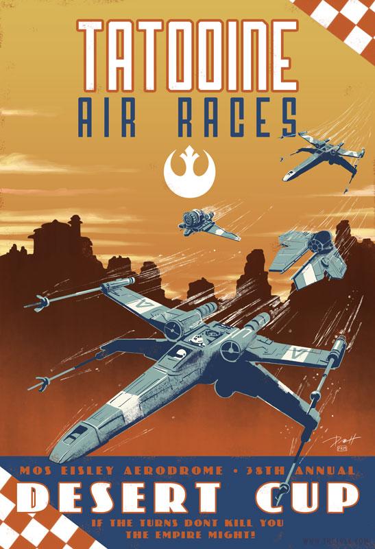 Star Wars Vintage Air Race Poster By Paulromanmartinez On