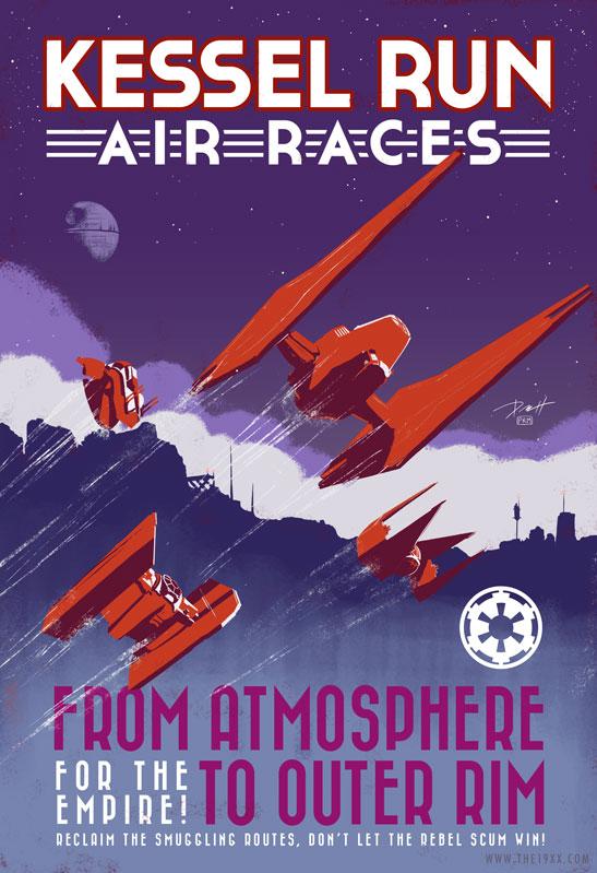 Star Wars Vintage Air Race Empire by PaulRomanMartinez