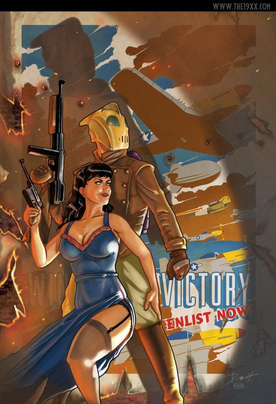 The Rocketeer at War by PaulRomanMartinez