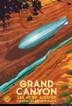 Airship Travel Art Grand Canyon