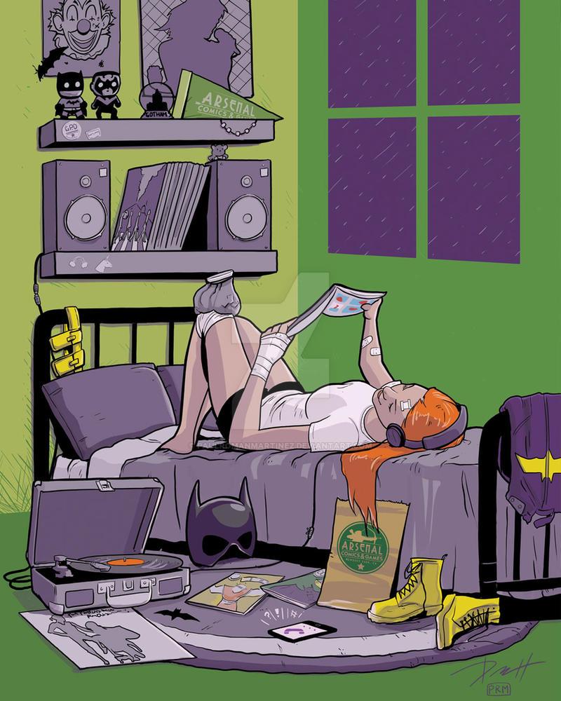 Batgirl's Long Day by PaulRomanMartinez