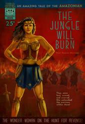 Wonder Woman Pulp Novel Cover by PaulRomanMartinez