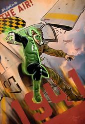 1941 Green Lantern Hal Jordan World War II by PaulRomanMartinez