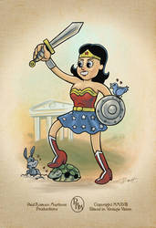 Toon Wonder Woman by PaulRomanMartinez