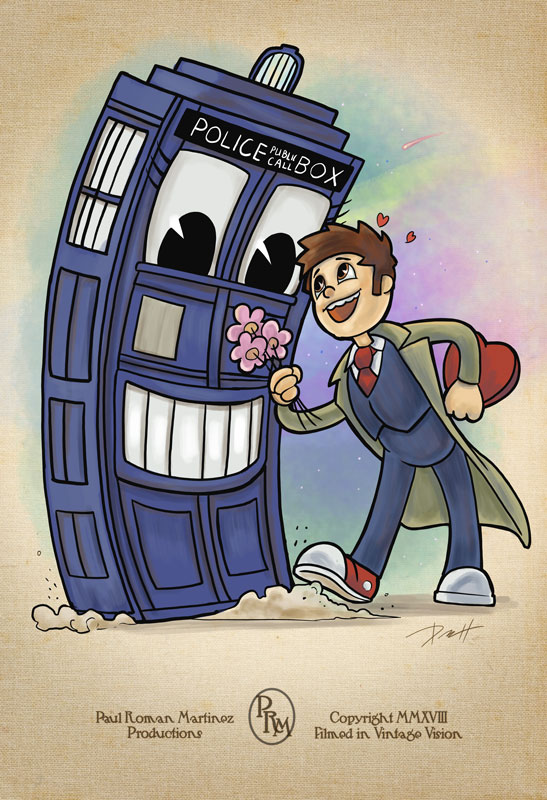 Toon Doctor Who by PaulRomanMartinez