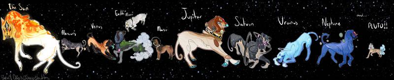 Milky Way Solar System Devil Dogs [CLOSED] by nicegaydog