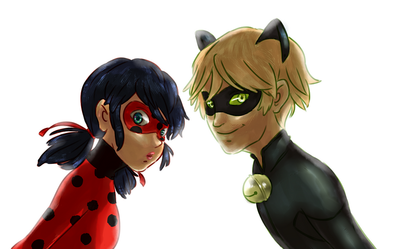 Ladybug + Cat Noir by Aeveternal