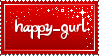 Stamp: happy-gurl by Silver-Chocolate