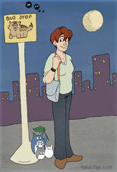 The Cat Bus Stop by MandiPoPoPope