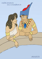Tutankhamun and Ankhasanamun WIP