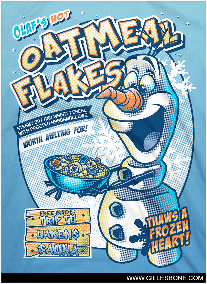 .OIafs Oatmeal Flakes. by GBIllustrations
