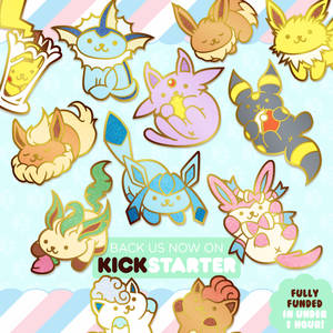 Nekomon Enamel Pins on Kickstarter